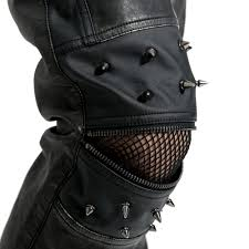 punk rave men s black goth rock punk slim fit leather studded trousers uk m to 4xl