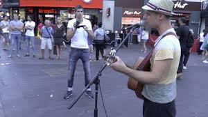 "Peter Leonard: ""The Boxer"" - Busking in London - YouTube"