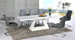 6 chair dining sets white high gloss extending dining table and 8 grey chairs set with