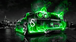 nissan skyline r34 abstract car city
