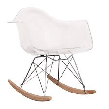eames inspired rocking chair. Simple Chair Charles Ray Eames Style RAR Rocking Chair  CLEAR U2013 SALTERNATIVE FURNITURE Intended Inspired