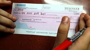 How To Fill A Cheque Youtube