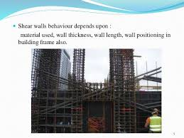 shear wall. rigid vertical diaphragm transfers the loads into foundations 4; 5.  shear walls wall