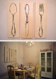 diy pottery barn canvas knife fork and spoon i would like to make these on kitchen fork knife spoon wall art french painting with 71 best knife fork spoon wall art images on pinterest fork