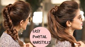 Simple Hairstyles For College Easy Braided Ponytail Hairstyles For College Schoolwork Pouf