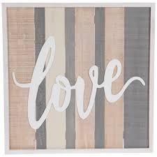 love striped wood wall decor hobby