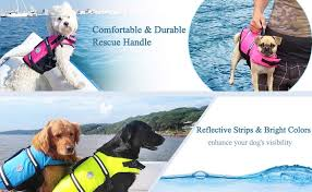 Vivaglory Size Chart Vivaglory Ripstop Dog Life Jackets Reflective Adjustable Preserver Vest With Enhanced Buoyancy Rescue Handle For Swimming Boating Canoeing