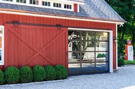 sliding barn door open revealing gl garage door very cool ideate let natural light into a garage or studio