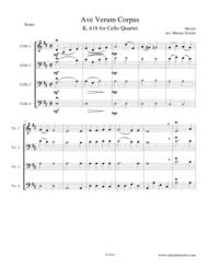 ave verum corpus sheet music download ave verum corpus for cello quartet sheet music by wolfgang