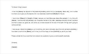 Character Letter For Court Template Sample Job Reference