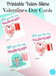 Printable Slime Valentine's Day Cards | Mom On The Side