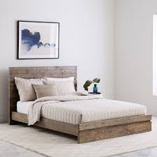 Gray Wooden Bed Frame | lacetothetop.com