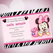 Free Printable Minnie Mouse Baby Shower Invitations Granizmondal Com