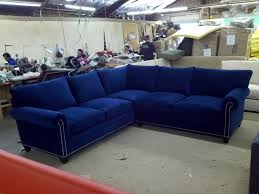 amazing blue velvet sectional sofa thesofa regarding blue velvet sectional sofa attractive