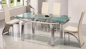 stainless steel dining table for 6 with gl top with white dining with the most incredible