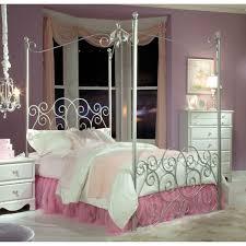 Metallic Bedroom Furniture Standard Furniture Princess Metal Silver Canopy Bed The Simple