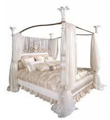 Nice Designed Classic European Solid Wood Carved Antique Snow White Four Poster Canopy Bed For Wedding Bf05-ys033 - Buy Four Poster Beds For ...