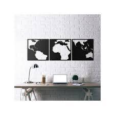 metal wall art world map