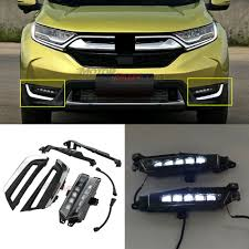 Drl Light Honda Crv Ad Ebay Pair For Honda Crv 2017 2018 White Led Drl Daytime