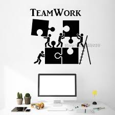 office wall stickers. Vinyl Wall Decal Teamwork Motivation Decor For Office Worker Puzzle  Stickers Modern Interior Art Decoration Hot LC520 Office Wall Stickers