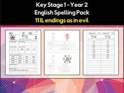 So you can learn it with sounds here interactively. English Spelling And Phonics Pack Il Endings As In Evil əl Or ɪl Teaching Resources
