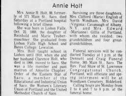 Annie Holt's obituary, Feb 1977 - Newspapers.com