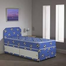boys storage bed. Perfect Storage Image Is Loading 3FTSingleBOYSBLUEFootballDivanBedMattress Intended Boys Storage Bed U
