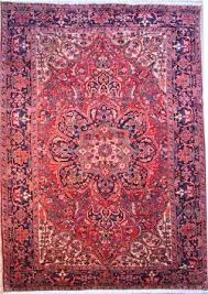 bakhtiari persian rug with roses and trees