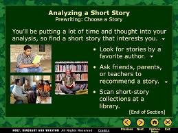 writing workshop analyzing a short story assignment prewriting  you ll be putting a lot of time and thought into your analysis so