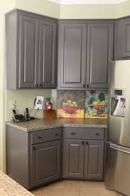 Gray Stained Kitchen Cabinets Gray Stained Wood Cabinets Best Home Furniture Decoration