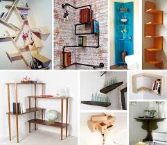 diy bedroom storage corner shelves