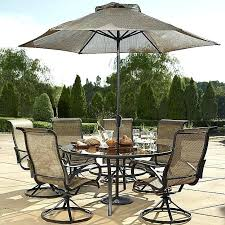 grand resort oak hill inch round sling dining set sears powder coated monterey patio furniture reviews