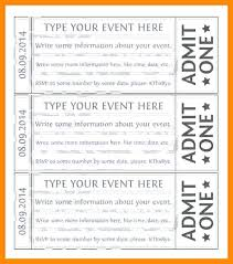 Free Ticket Template Printable Free Ticket Templates For Ticket