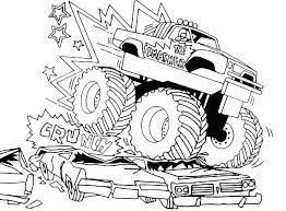 Monster Truck Printables Coloring For Babies Amvame
