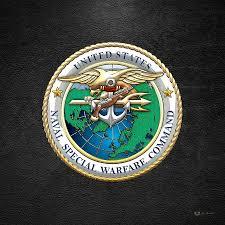 Naval Special Warfare Command N S W C Emblem On Black