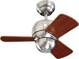Monte Carlo 3tf24bs 3tf24bs Micro 24 3 Blade Ceiling Fan 24 Inches Brushed Steel