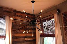 sputnik chandelier black
