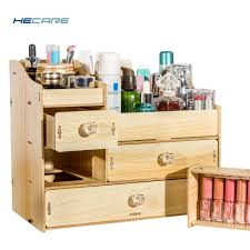 details about wooden dresser cosmetics organizer hecare las makeup organizers with drawers