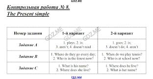 ГДЗ по английскому языку класс Кулинич контрольные работы решебник Контрольная работа 1 the possessive case Контрольная работа 4 numerals Контрольная работа 5 pronouns Контрольная работа 6 pronouns Контрольная работа 7