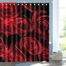 red shower curtain hooks red rose shower curtain red rose shower bathroom waterproof accessories curtains for red shower curtain hooks
