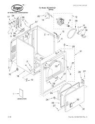 Roper wiring diagram dryer copy roper 29 quot electric dryer parts model red4440vq1