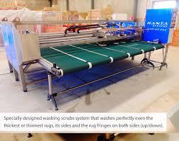 rug washing machinery