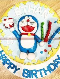 Doremon Birthday Cake For 5th Birthday Opulence Bakery