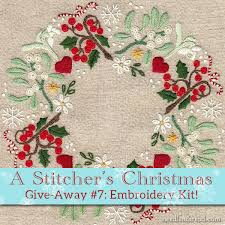 A Stitcher's Christmas #7: Christmas Wreath Embroidery Kit ...