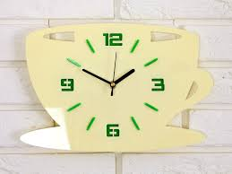 clock to kitchen wall clock coffe time