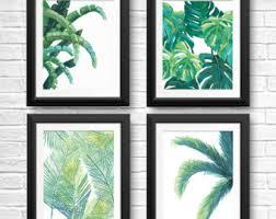 banana leaf prints tropical leaf art tropical wall art banana leaf beach house decor palm tree palm tree print fern set of 4 on palm tree wall art set with set of 4 palm tree prints tree print bundle tropical tree