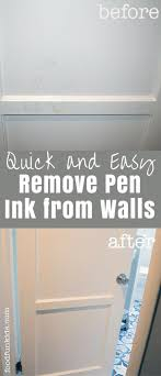 Quickly Remove Pen Ink From Walls