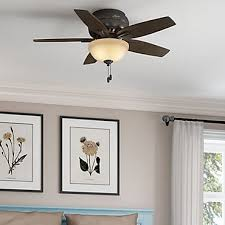 white hugger ceiling fans flush mount ceiling fan with pul chain and downlight over a queen bed