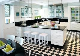 black and white kitchen classic black amp white checd tiles look fresh and black n white black and white kitchen