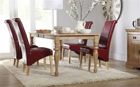 furniture choice. kensington oak extending dining table - with 4 boston red chairs furniture choice